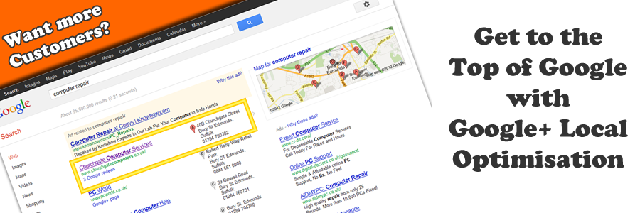 Google+ Local and Google Maps Optimisation